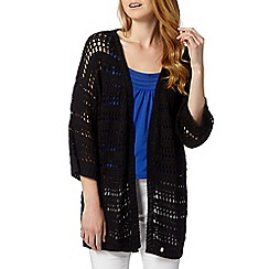 Star by Julien MacDonald - Designer black crochet cover up cardigan