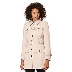 Star by Julien Macdonald - Designer light pink four pocket crepe coat