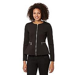 Star by Julien MacDonald - Designer black ponte peplum jacket