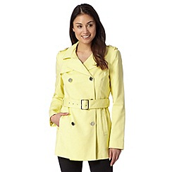 Star by Julien MacDonald - Designer light yellow cotton mac