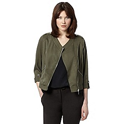 Star by Julien MacDonald - Designer khaki zipped biker jacket