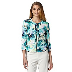 Star by Julien MacDonald - Designer green tropical pansy print scuba jacket