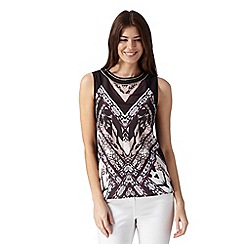 Star by Julien Macdonald - Designer black animal mirror top