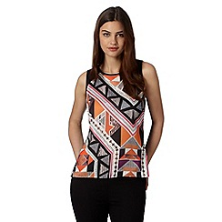 Star by Julien MacDonald - Designer black abstract print top