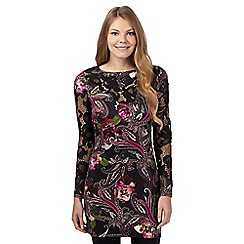 Star by Julien Macdonald - Black animal paisley jersey tunic