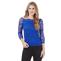 Star by Julien Macdonald - Royal blue lace bandeau top