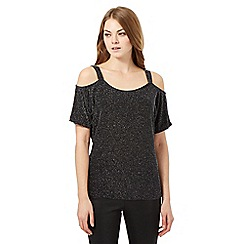 Star by Julien Macdonald - Black cold shoulder top