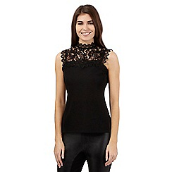Star by Julien Macdonald - Black lace yoke top
