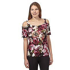 Star by Julien Macdonald - Pink floral cold shoulder top
