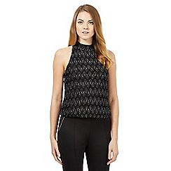 Star by Julien Macdonald - Black zig zag halter top
