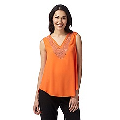 Star by Julien MacDonald - Designer orange studded drape top