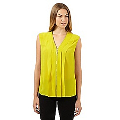 Star by Julien MacDonald - Designer lime zip front top