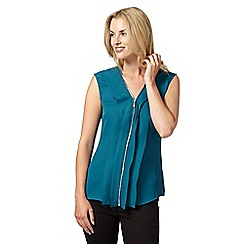 Star by Julien MacDonald - Designer turquoise zip front top
