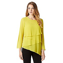 Star by Julien Macdonald - Designer lime layered ruffle top