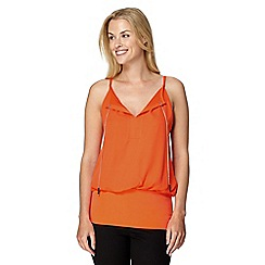 Star by Julien Macdonald - Designer orange chain bubble top