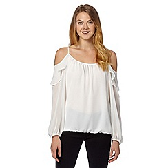 Star by Julien MacDonald - Designer ivory cold shoulder top