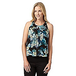 Star by Julien Macdonald - Designer dark turquoise floral bubble top