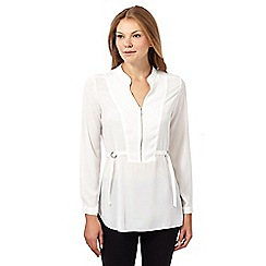 Star by Julien MacDonald - Designer ivory front zip detail shirt