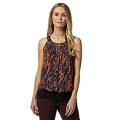 Star by Julien Macdonald - Designer orange animal print layered top
