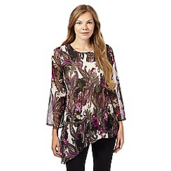 Star by Julien Macdonald - Purple paisley pleated top