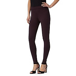 Star by Julien Macdonald - Designer dark purple button cuff leggings