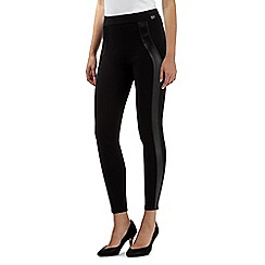Star by Julien MacDonald - Designer black PU panel treggings