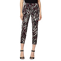 Star by Julien Macdonald - Designer black animal cropped trousers