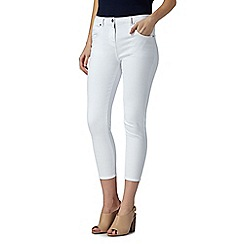 Star by Julien MacDonald - Designer white skinny cropped jeans