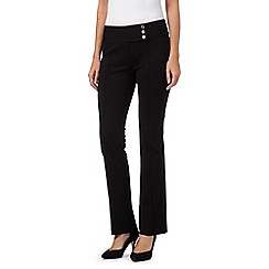 Star by Julien Macdonald - Black ponte kick flare trousers