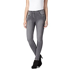 Star by Julien Macdonald - Designer grey embellished skinny jeans