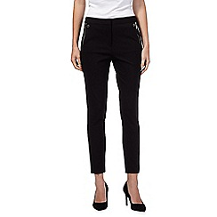 Star by Julien Macdonald - Black ponte zip detail slim leg trousers