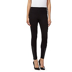 Star by Julien Macdonald - Black PU biker leggings