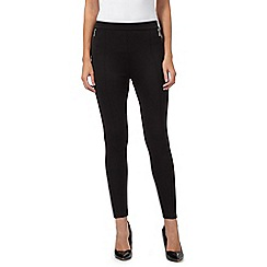 Star by Julien MacDonald - Black zip detail scuba leggings