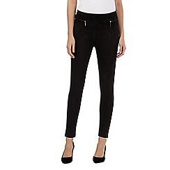 Star by Julien Macdonald - Black zip pocket suedette leggings