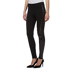 Star by Julien Macdonald - Black sequin side leggings