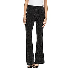 Star by Julien Macdonald - Black sparkly kick flare trousers