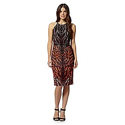 Star by Julien MacDonald - Designer dark purple printed halter dress