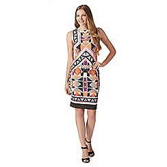 Star by Julien MacDonald - Designer orange abstract print scuba dress