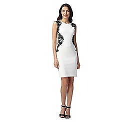 Star by Julien MacDonald - Designer ivory lace trim dress