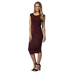 Star by Julien MacDonald - Designer dark red side zip ruched dress