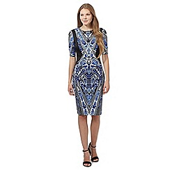 Star by Julien Macdonald - Blue feather scuba dress
