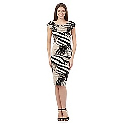 Star by Julien Macdonald - Black animal print bardot dress