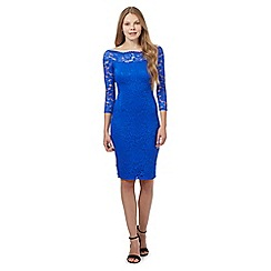 Star by Julien Macdonald - Bright blue lace dress