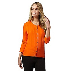 Star by Julien Macdonald - Designer orange panelled knit cardigan
