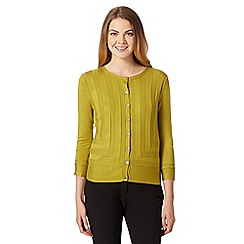 Star by Julien Macdonald - Designer lime panelled knit cardigan