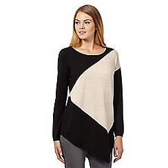 Star by Julien MacDonald - Black asymmetric colour block jumper