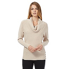 Star by Julien Macdonald - Beige cowl neck jumper