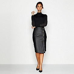 Star by Julien Macdonald - Black turtle neck jumper