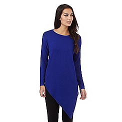Star by Julien Macdonald - Blue asymmetric jumper
