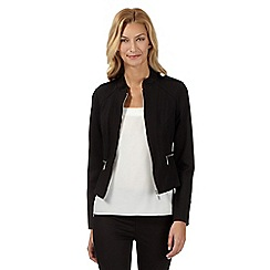 Star by Julien Macdonald - Designer black ponte zip jacket